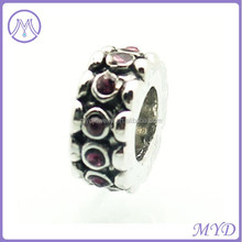Metal crystal beads for European style