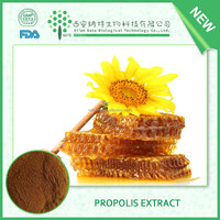 TOP grade propolis extract powder/100% Water Soluble green propolis extract powder