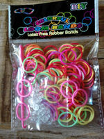 2014 NEW Fashion DIY Silicone Color Loom Bands for Bracelets