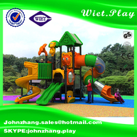 Outdoor plastic parts tube slide playground for plastic garden cat playground