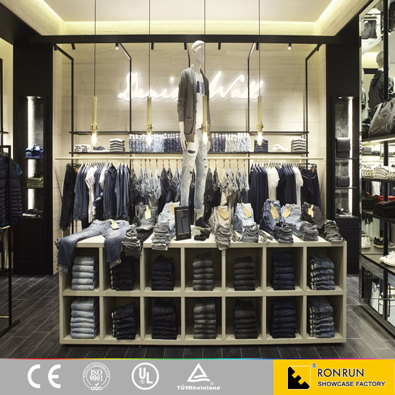 Garment Showcase Furniture Wholesale, Men Clothes Display Cabinet Clothes Display Shelves