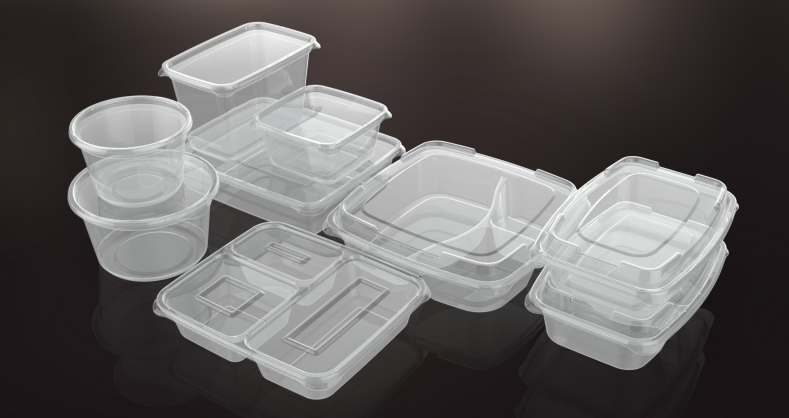 clear pp plastic reusable thin wall container thin plastic storage containers wholesale BPA free 500ML 1000ML 1500ML 3.7L 4.2L