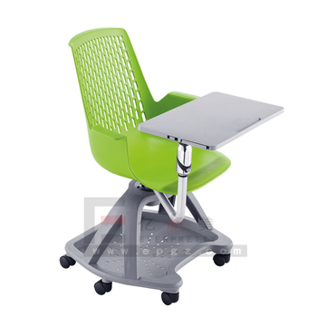 High quality Plastic Material University Training Chair with Writing Tablet for Students