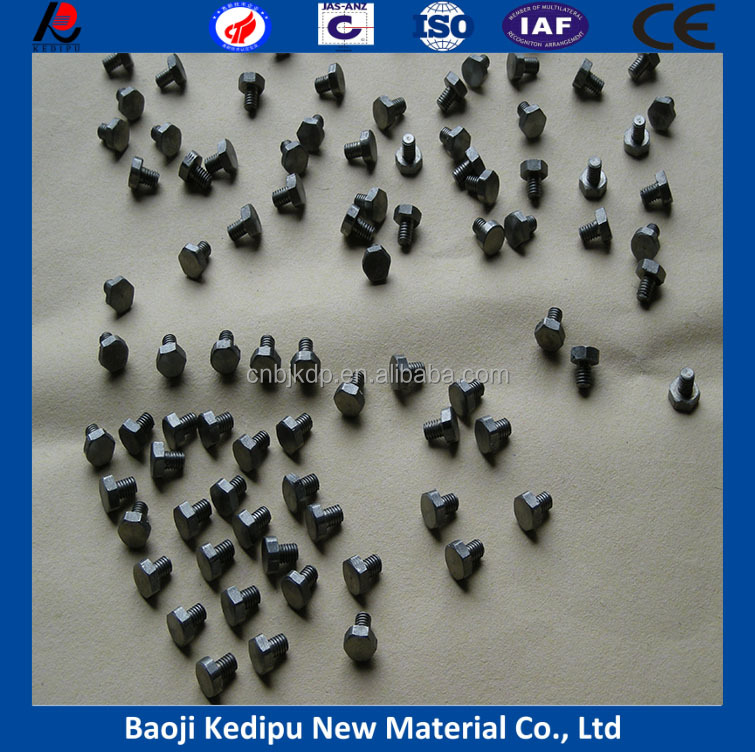 factory price 99.95% pure standard part molybdenum rivet molybdenum screw molybdenum nut