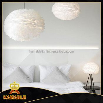 White iron and feather pendant light for decoration (KA8114)