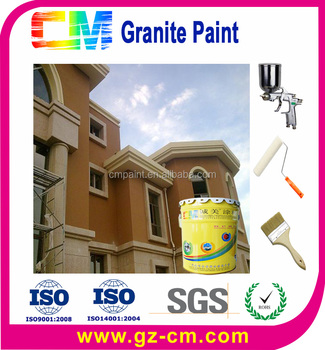 Villa building Marble effect granite spray paint