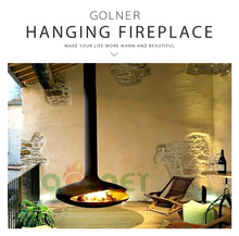 Indoor Wood Burning Suspended Fireplace Round Wood Burning Stoves/Wall Mounted Stylish Fireplace/Factory directly wood burning s