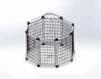 pet modular outdoor dog kennel