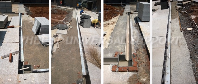 VHBEST-polyester concrete kerb and CHANNEL drainage system 007 oem precast polymer concrete polycast drain