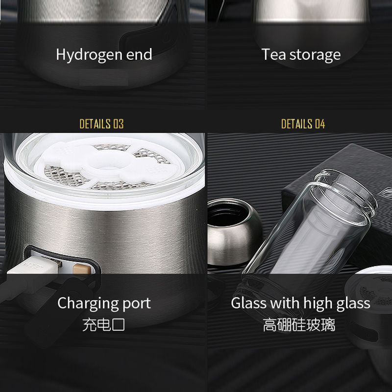 2017 newest hydrogen water generator bottle hydrogen ionizer water bottle hydrogen water generator cup 1200ppb FDA approve