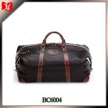 Full grain cowhide expandable leather duffle bag men's leather bag travel bag