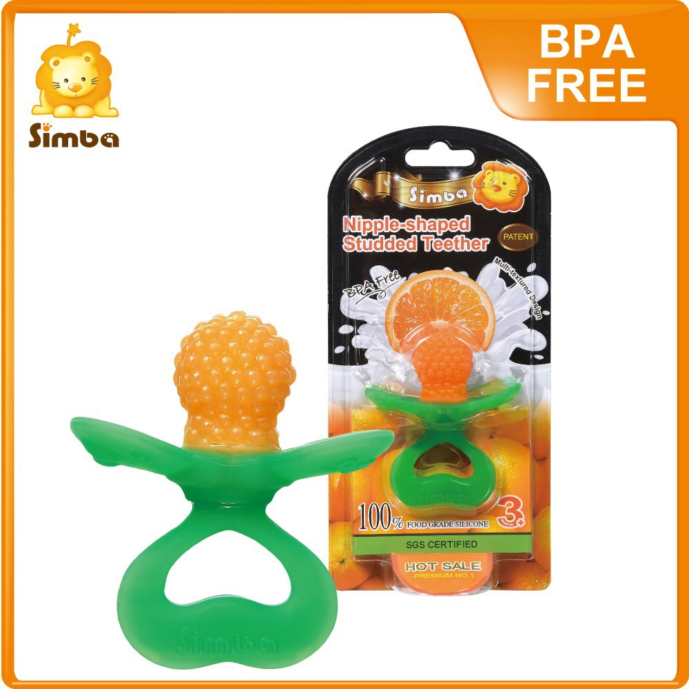 Simba BPA Free Nipple-shaped Massage Silicone Collection Pacifier Baby Teether