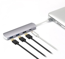 Type C Hub adapter 4 in 1 usb type c hub for 2 ports USB and 1 port type c and one other slot