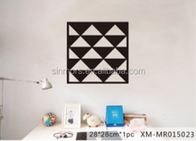 Triangle shaped removable mirror decals/colorful eva wall mirror sticker