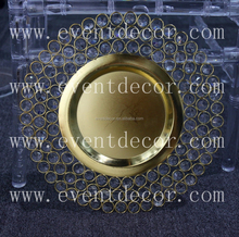 gold glass beaded charger <strong>plate</strong> ,wedding charger <strong>plates</strong> crystal