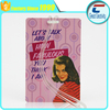sexy lady high quality single piece PVC card hard plastic travel airline luggage tags