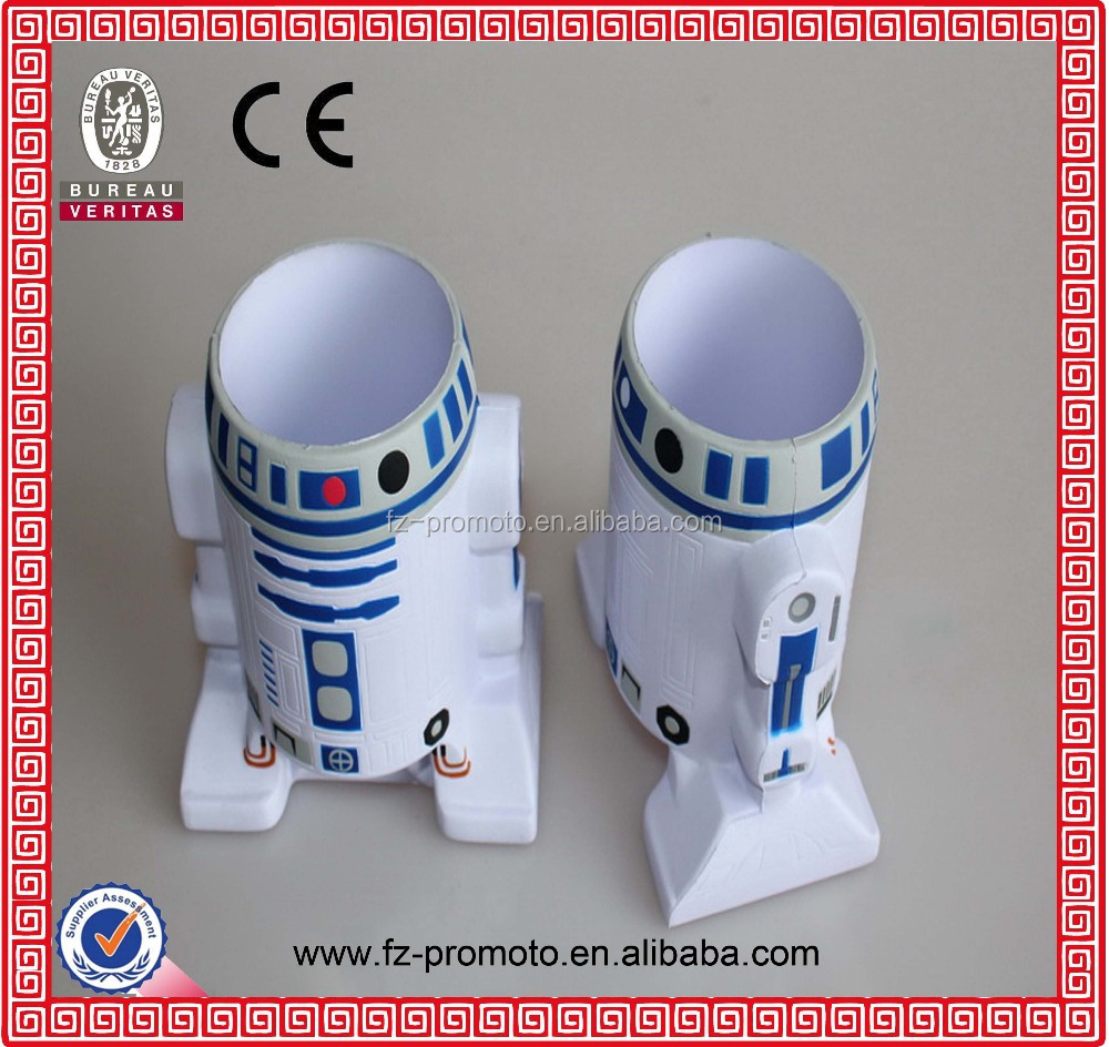 Promotional gift Whiter spaceman shape pu foam toy /pu ball