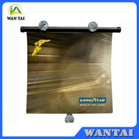 retractable auto car roll up window sun shade roll up car sun shade