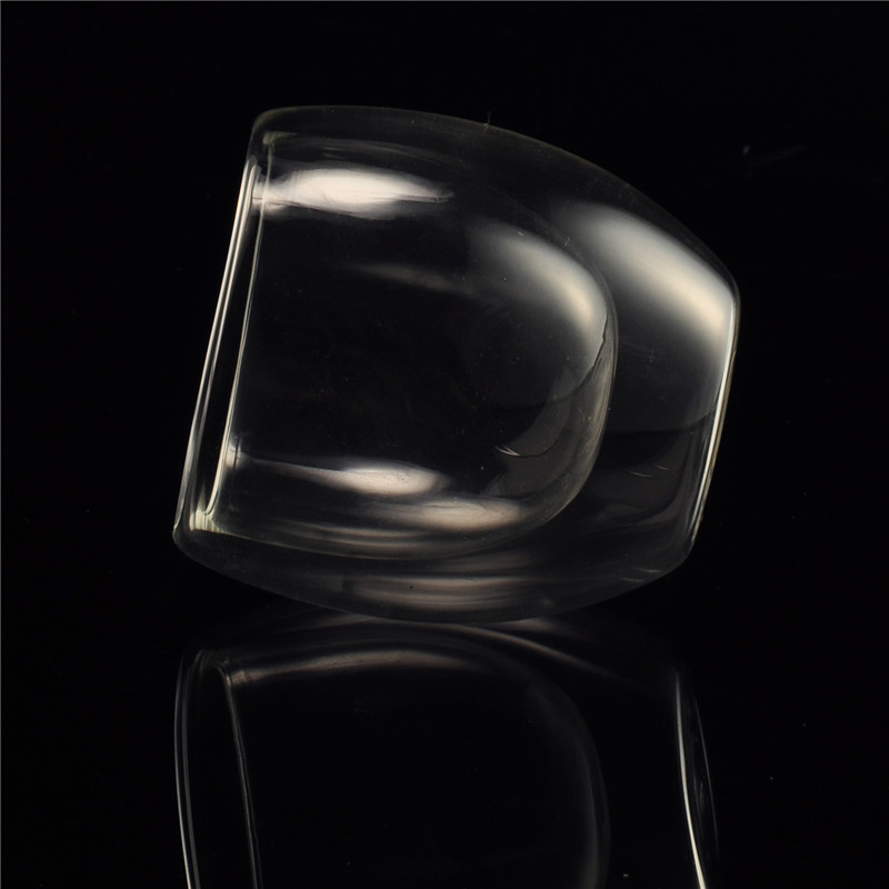 Thermo coffee heat resistant transparent double wall glass