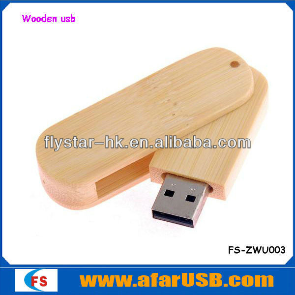 Eco friendly Natural wooden USB gadget with high quality