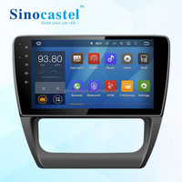 "10.1"" HD Digital TFT Touch Screen 1 Din Android 5.1.1 Car GPS Navigator with Screen Mirroring Function for VW Jetta 2013"
