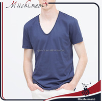 cheap deep blue wholesale scoop neck t shirt for men