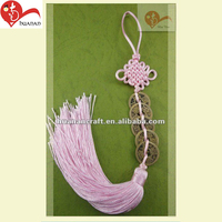 Including automobile pink Chinese knot tassel jewelry car pendant