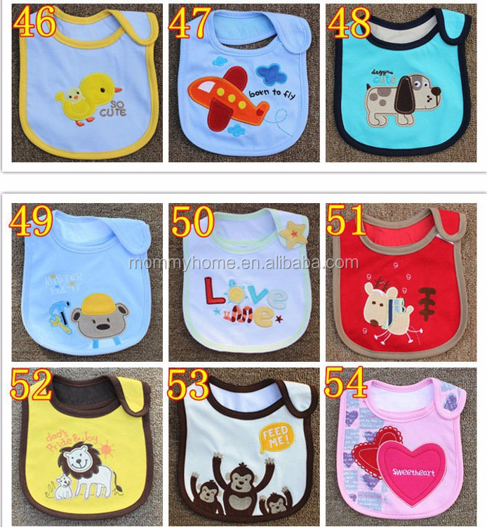 Wholesale in stock many styles newborn baby girls bibs carters M5040619