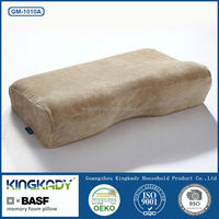 Cheap wholesale upholstery leather scraps health care bedding set decorative memory foam pillow