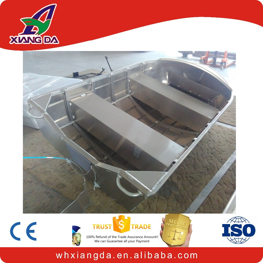 Deep v bottom weled aluminum boat