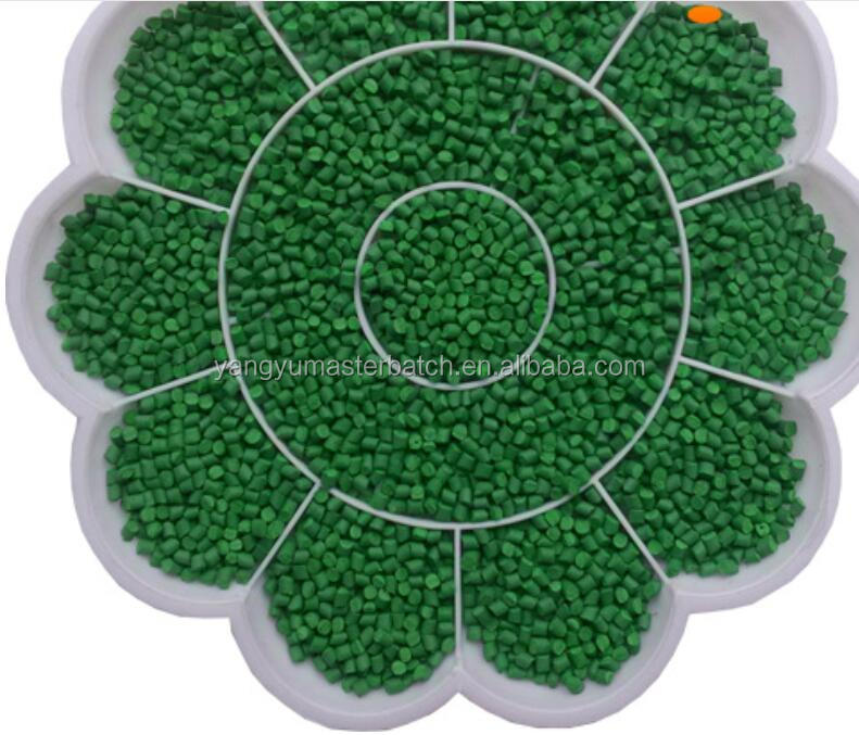 bright green color masterbatch manufacturer without filler