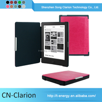Auto Wake Sleep Funtion Pu Leather Case For Kobo Aura 6 Inch Ereader Cases Leather Case Wholesale
