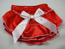 Wholesale Multicolor Red Infant Bowknot Skirted Anti-static Baby Bloomers Chiffon Baby Diaper Cover Bloomers