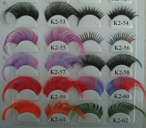 synthetic False eyelashes extention for sample