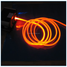 Flexible Outdoor UV protection side glow polymer fiber optic