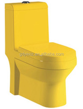 A3110 chaozhou sanitary ceramic bathroom water closet yellow color toilet