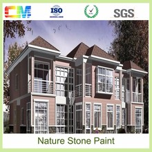 Top quality exterior wall natural stone paint/ Texture fire resistant spray waterbased stone paint