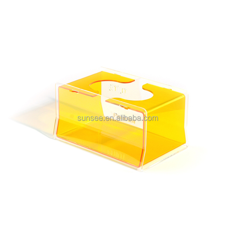 acrylic tissue colorful box with simple design new for 2015