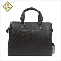 Elegant design handmade business briefcase genuine leather men bag