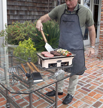 Heavy Duty Canvas BBQ Apron with Tool Pockets