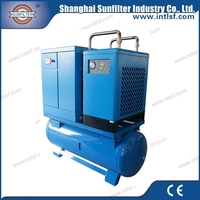 Movable AC Power Combined Screw Compressor