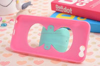 Cute shockproof bowknot stand TPU Universal case for Samsung Note 3