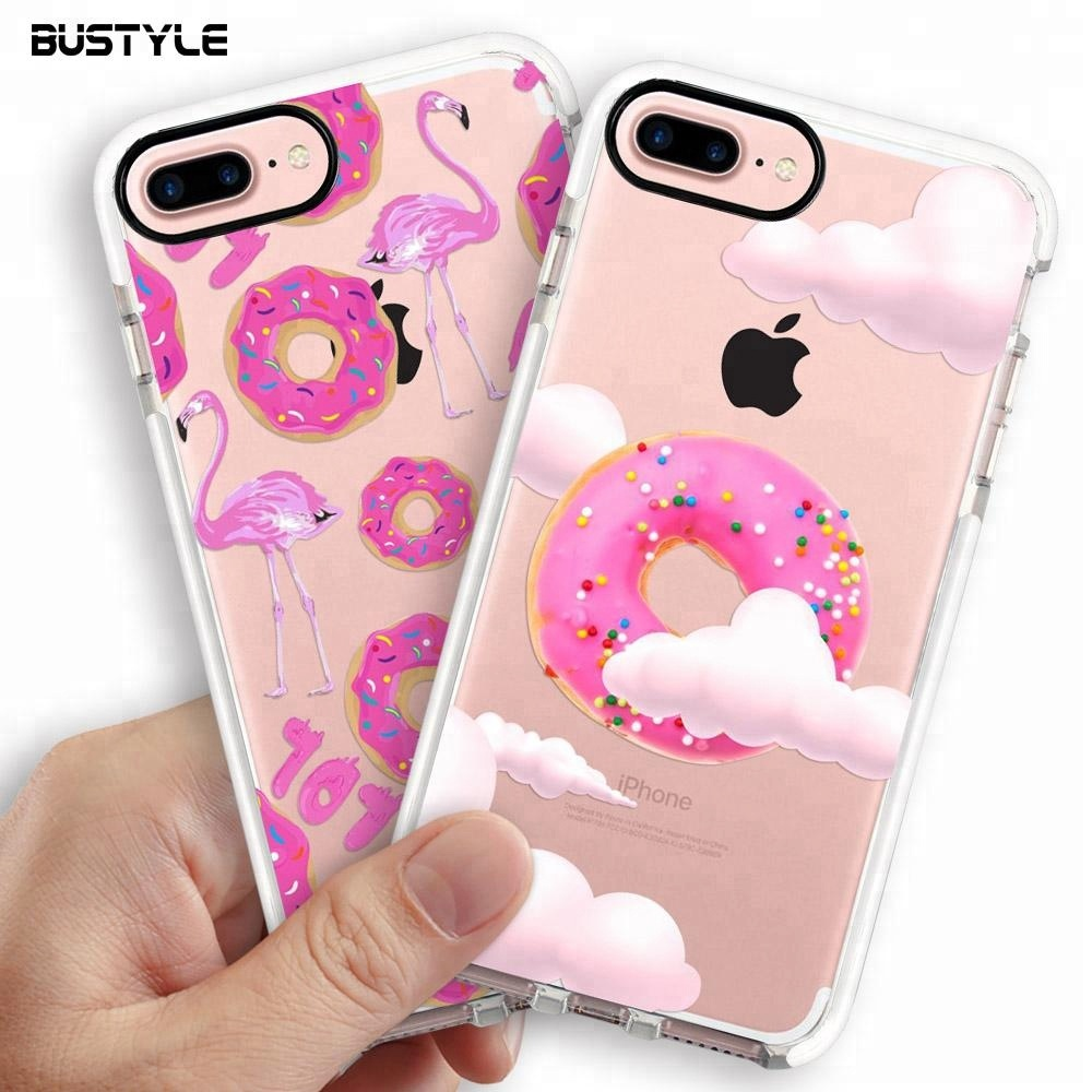 Soft Clear TPU+TPE Anti Shock Phone Case 2018 for iphone 6 7 8 plus