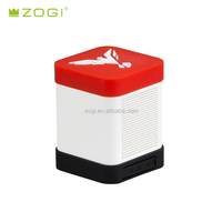 Music mini wireless portable bluetooth speaker Base Box Mini ABS body with silicone cover support 2D or 3D logo