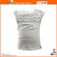 wholesale plain white t shirts with lace