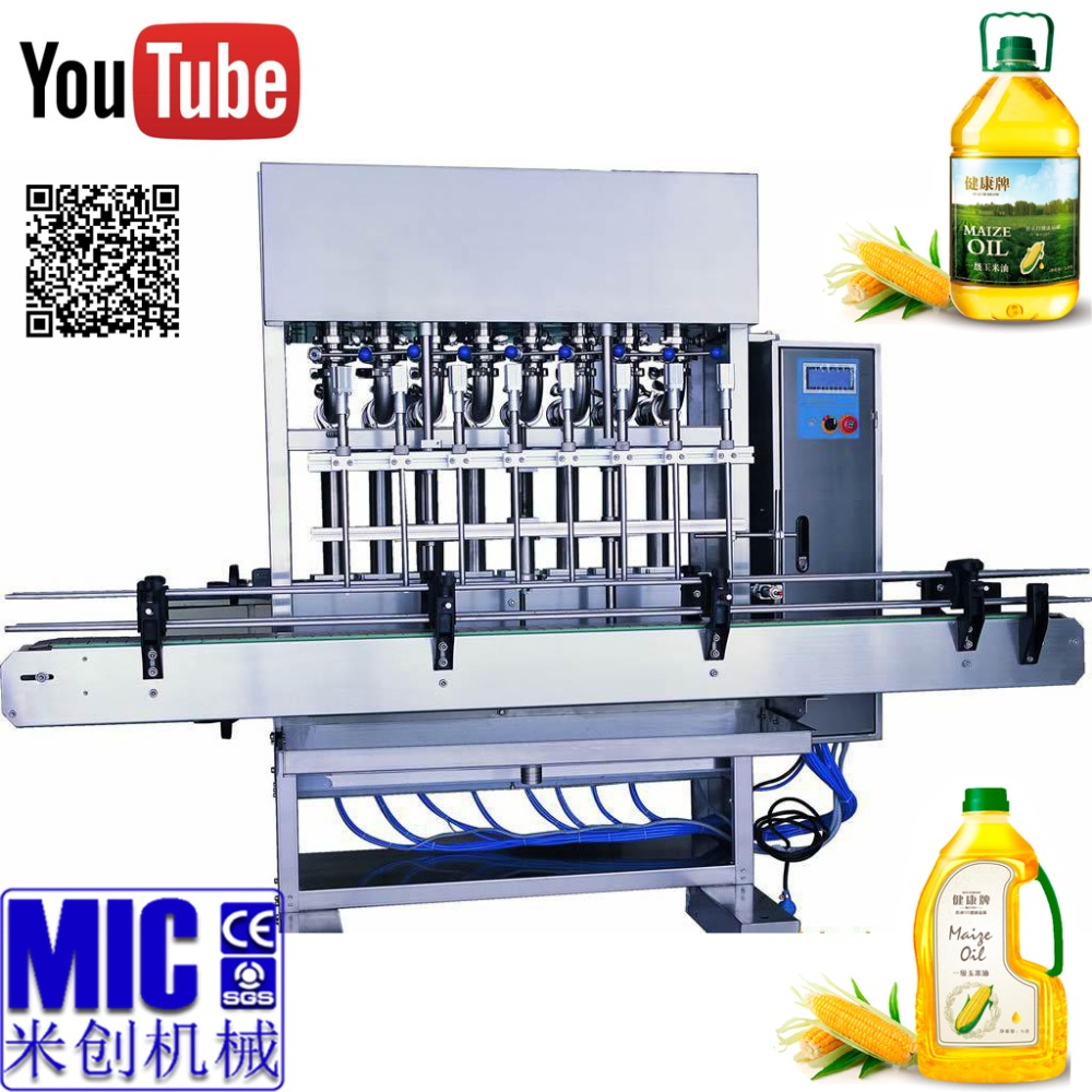 MIC-ZF6 exquisite craftsmanship 6 nozzles 2000bph edible oil filling <strong>machine</strong> cooking oil filling <strong>machine</strong>
