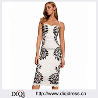 Vestidos Summer Party Cocktail Club Bodycon Printed Lace Pencil Midi Dress Women Dresses