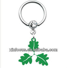 Holiday Mistletoe Dangle Captive Ring&Body Jewelry Shop Wholesale Jewelry
