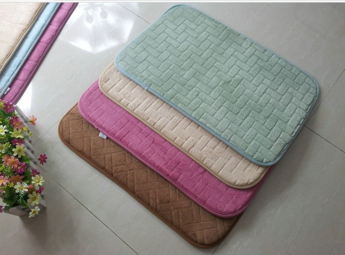 Rectangle Microfiber Memory Foam Bath Mat Amp Bath Rug Buy