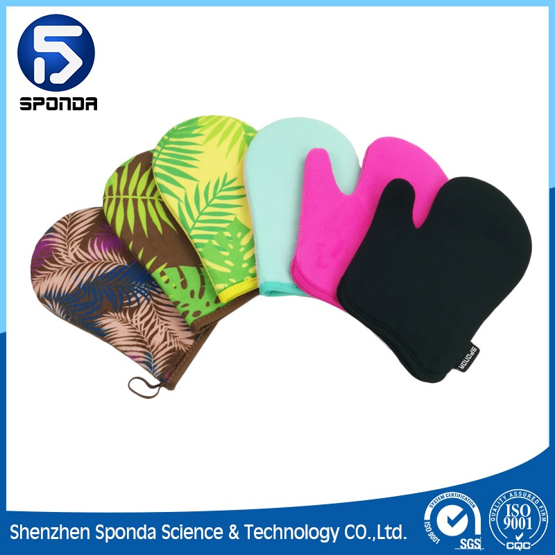 Gold Sunless Tanning Mitts for Applying Self-Tanners